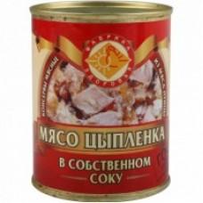 КОНСЕРВЫ МЯСО ЦЫПЛЕНКА В С/СОКУ/Б 0,350